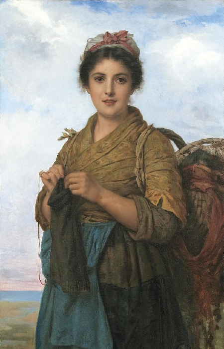Молодая швея (The Young Seamstress). Автор: Leon Bazile Perrault.