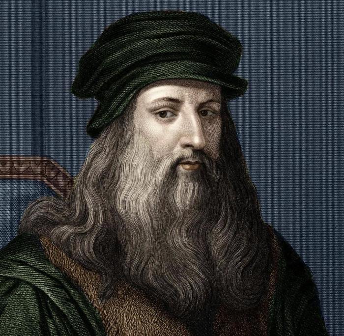 Портрет Леонардо да Винчи руки неизвестного художника